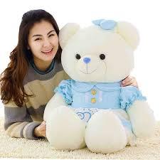 big valentines day teddy bears kawaii plush toys 55 cm big teddy plush dolls with 4 color