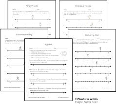 fractions on the number line worksheet 3rd grade fractions fraction frenzy edventures 4