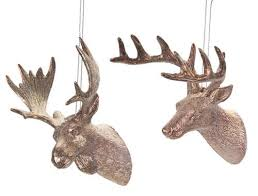 pack of 24 bronze tone glittered moose christmas ornaments 3 25