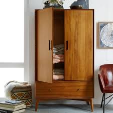 MidCentury Wardrobe Acorn West Elm - West elm mid century bedroom furniture