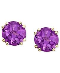 purple stud earrings 14k gold amethyst stud earrings 3 1 2 ct t w jewelry