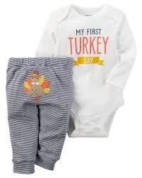 2 thanksgiving bodysuit pant set carters