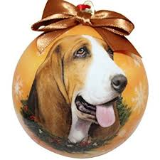 basset hound ornament santa s pals with personalized