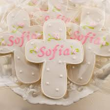 personalized baptism favors personalized rosebud cross cookies for baptism communion 12