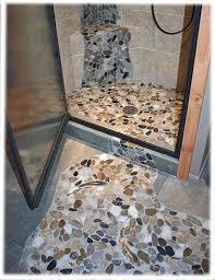 river rock bathroom ideas 22 best river rock flooring images on pebble tiles