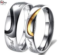 promise ring sets fashion titanium steel rings his and hers promise ring sets