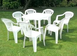 white resin outdoor table patio furniture sets home design luxury