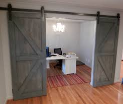 Sliding Barn Doors For Interior Office Office Desgn Idea With Gray Wood Sliding Barn