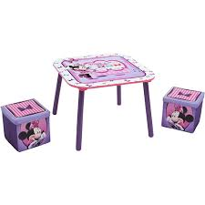 minnie mouse table set disney minnie mouse table and ottoman set with storage ny baby store