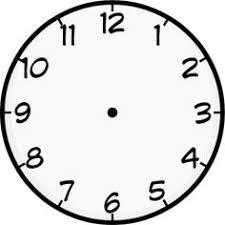 large blank clock template handwriting kids math