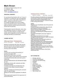 Examples Of Teaching Resumes by Teacher Cv Template Lessons Pupils Teaching Job Coursework
