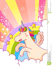unicorn rainbow unicorn and rainbow stock vector image of cheerful design 68256305