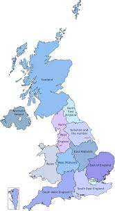 Map Of The United Kingdom European Parliament Constituencies In The United Kingdom Wikipedia