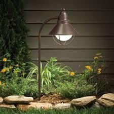 Landscape Path Light Kichler 15435 1 Lt 12v Glass Path Lights Golden Purple Or