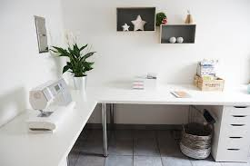 minimalist corner desk setup ikea linnmon top with adils legs and