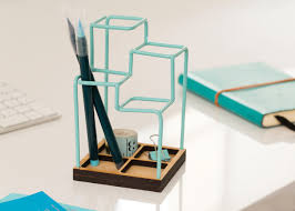 Pencil Holders For Desks A 3d Desk Organizer That Looks Like A Sketch Desk Tidy Desk
