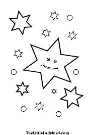 stars coloring pages thelittleladybird
