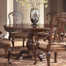 dark brown round kitchen table astonishing ashley furniture round dining table north shore pedestal