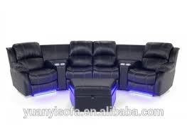 Yrt Modern Home Furniture SofaHome Theater Recliner SofaHome - 4 seat leather sofa