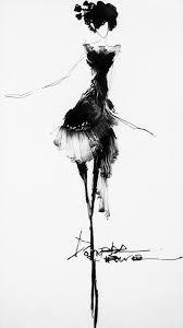fashion sketch beautifully elegant black u0026 white fashion