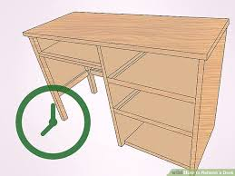 How To Refinish Desk How To Refinish A Desk 15 Steps With Pictures Wikihow