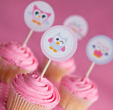 owl cupcake toppers cute owl toppers pink owl cupcake