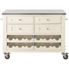 martha stewart living corwin picket fence white kitchen cart with