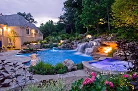 pools with waterfalls bergen county nj inground swimming pool waterfalls traditional