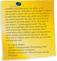 grieving the loss of a child about children s grief awareness day
