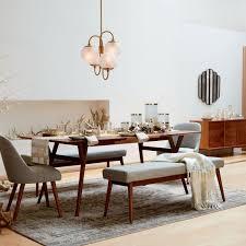 mid century expandable dining table walnut west elm au
