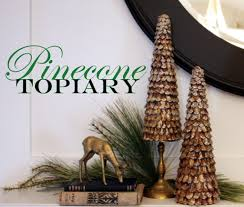 pinecone topiary trees featuring michelle from sweet something