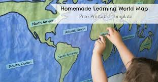 printable world map a1 homemade learning world map researchparent com
