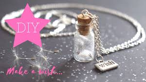 wish bottle necklace images Diy how to make dandelion wish bottle charm neklace giveaway jpg