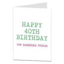 card for husband 40th birthday card for husband or boyfriend