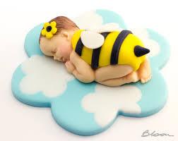 bumble bee cake topper fondant baby cake topper baby bee cake topper baby shower