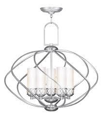 Nickel Ceiling Light Livex 4725 91 Westfield 5 Light 26 Inch Brushed Nickel Chandelier