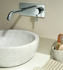 Wall Mounted Bathroom Sink Faucets Wall Mount Faucet With Modern Shape And Design Traba Homes