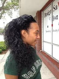 nappy savvy full sew in with a perimeter leave out