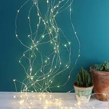 copper wire waterfall string lights 320 led by homeware