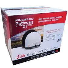 winegard pathway x1 portable satellite antenna black winegard