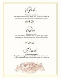 editable menu templates wedding day menu classic 2 jpg