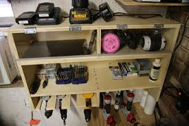 shop organization bundle drill charging station and clamp rack