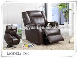 lazy boy dark brown leather electric lift recliner chair for old