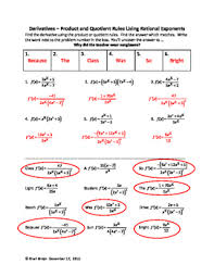 product and quotient rule using rational exponents