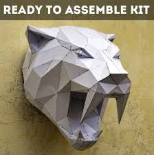 tiger mask halloween ready to assemble kit for sabertooth sculpture free shipping