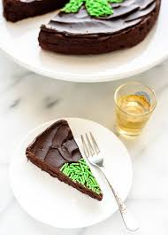 flourless whiskey cake with whiskey chocolate ganache