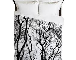 Black And White Tree Comforter Home Decor Inspired By Nature By Callaandclover On Etsy