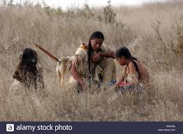 Native American Map Three Native American Indian Children Using The Ground To Show A