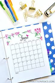 2017 free printable monthly calendar on sutton place