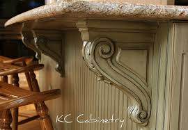 kitchen island with corbels corbel
